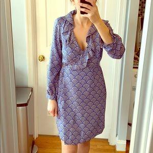 Elizabeth McKay Long Sleeve Silk Dress